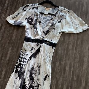 NWOT Galliano Printed Maxi Dress